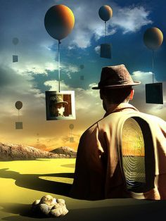 """Digital Surrealism"" by Marcel Caram. So Salvador Dali-ish! Rene Magritte, Surrealism Painting, Pop Surrealism, Surrealism Examples, Fantasy Kunst, Fantasy Art, Wassily Kandinsky, Yuumei Art, Modern Art"