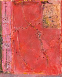 PIERRE LESIEUR, Pompei, fresque rouge, 2010, 100x81