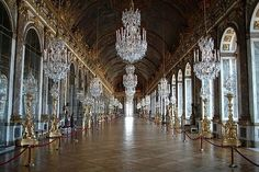 Hall of Mirrors (Chateau de Versailles in France) - Kati and I went there back in it was beautiful! Jules Hardouin Mansart, Inside Castles, Luis Xiv, Hall Of Mirrors, Mirror Mirror, Epoch Time, Palace Of Versailles, Demotivational Posters, Paris Hotels
