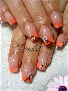 french nails natural Tips Nail Tip Designs, French Nail Designs, Simple Nail Designs, Nails Design, Art Designs, Design Art, French Tip Nail Art, Summer French Nails, Summer Nails