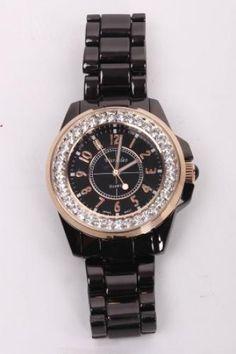 BLACK RHINESTONE ACCENT SPORTY WATCH Sporty Watch, Black Rhinestone, Bracelet Watch, Watches, Bracelets, Stuff To Buy, Accessories, Jewelry, Jewlery