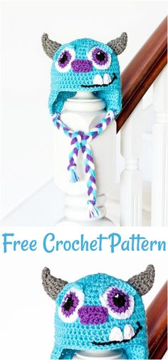 Crochet hats 360217670195645171 - We have rounded up a big list of free crochet baby beanie hat patterns for your inspiration. All of these are so gorgeous, beautiful, amazing and so much easy to crochet. Source by Crochetcraftsye Easy Crochet Baby Hat, Crochet Baby Hats Free Pattern, Crochet Hats For Boys, Crochet Beanie Hat, Free Crochet, Crocheted Hats, Crochet Patterns, Crochet Ideas, Monsters Inc Crochet