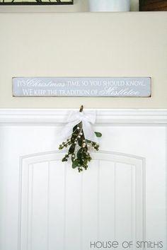 Mistletoe - in the entryway