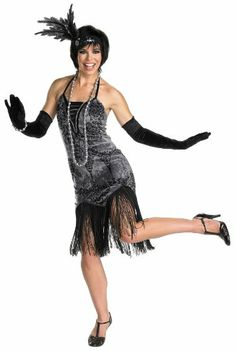 Amazon.com: Deluxe Flirty Flapper Girl Adult Costume: Toys & Games
