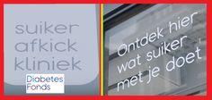 """De eerste Suiker Afkickkliniek ter wereld Goed nieuws: Een popup-winkel met daarin een suiker afkickkliniek van het Diabetes Fonds als EYE-OPENER!  Met de slogan """"Nederland is onbewust verslaafd aan suiker"""""""