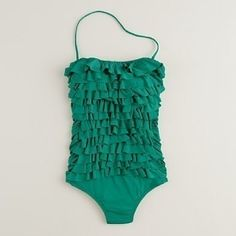 A green one-piece bathing suit. Hello there!