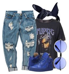 """Sem título #178"" by joyridx ❤ liked on Polyvore featuring Boohoo, Topshop, OneTeaspoon and Giuseppe Zanotti"