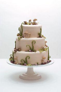Woodsy Wedding Cake by studiocake, via Flickr