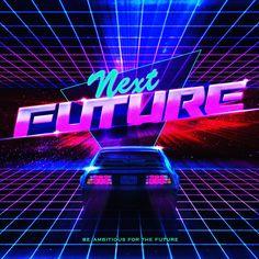 I made graphic art 80s game logo