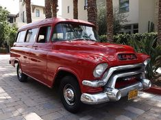 1956 GMC Suburban for sale - Hemmings Motor News Gmc For Sale, Cars For Sale, Classic Gmc, California, Scarlet, Vehicles, Salmon, Truck, Cat