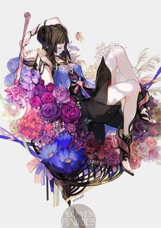 「Flower Fairies」/「nineo」のイラスト [pixiv]