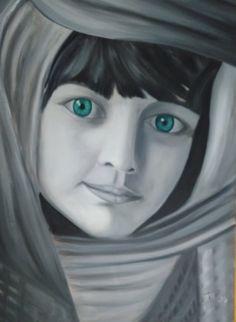 Artist: Patouna Anastasia title: kid dim:50x70 oil painting price: 1000 euro Anastasia, Euro, Kid, Gallery, Artist, Painting, Fictional Characters, Child, Artists