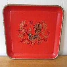 vintage peacock tray.