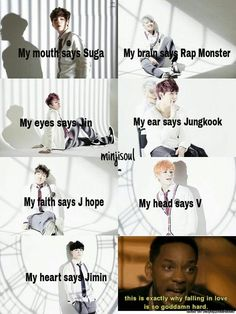 The struggles with bangtan love is real