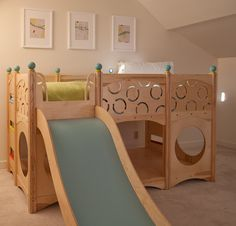 Rhapsody children's bed with play area and slide
