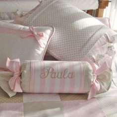 Ropa de Cuna Gael Cot Bedding, Pink Bedding, Baby Furniture Sets, Decoration Bedroom, Teepee Kids, Baby Monogram, Baby Girl Crochet, Creation Couture, Baby Pillows