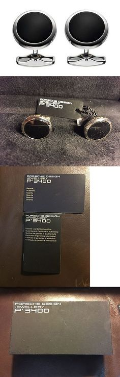Cufflinks 137843: Porsche Design 925 Sterling Silver Black Onyx Circle Cufflinks New Orig Box 1525 -> BUY IT NOW ONLY: $225 on eBay!