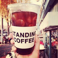 'standing coffee' in Korea Itaewon