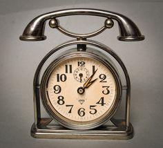 Vintage big mechanical alarm clock Shanghai China by Alchemyshop, $10.00 (form, not functional!)