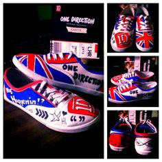 One Direction DIY shoes! Love them!!