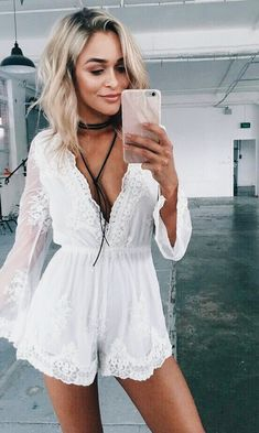 33 New Ideas For Moda Hippie Outfits White Lace Trend Fashion, Look Fashion, Spring Summer Fashion, Spring Outfits, Summer Outfits For Guys, Women's Summer Clothes, Spring Break, Mode Boho, Inspiration Mode