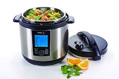 Fagor LUX LCD Multicooker - Digital Pressure Cooker, Slow Cooker, Rice Cooker and Yogurt Maker - 8 quart, Stainless Steel (935010063)