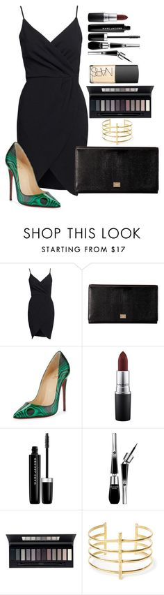 """Untitled #1534"" by fabianarveloc on Polyvore featuring Dolce&Gabbana, Christian Louboutin, MAC Cosmetics, Marc Jacobs, Lancôme, ArtDeco, BauXo and NARS Cosmetics"