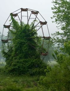 """This Old Abandoned Ferris Wheel. (reminds me of the one one """"Professor Layton and the Curious Village"""")"""