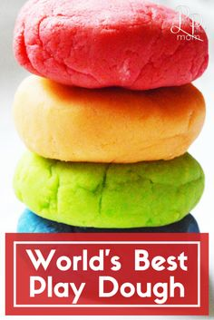 World's Best Play Dough Recipe! Seriously, this stuff is not only easy, but we've formulated the best recipe for the longest lasting and softest play dough ever! This recipe is so easy you can easily make multiple batches in less than half an hour!