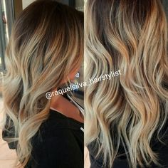 Gorgeous blonde ombre balayge highlights by me ♥