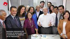 Bancada do PCdoB discute cenário político com Lula
