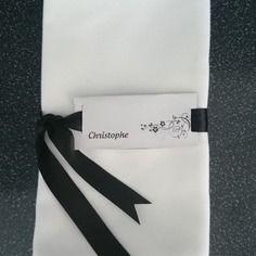 Marque place rond de serviette personnalisé