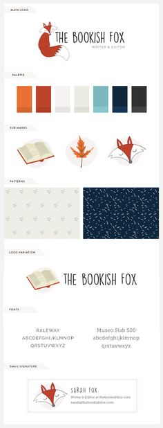 My step by step design process + recent work for The Bookish Fox