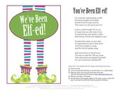 You've Been Elfed! Poem and Sign