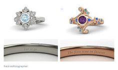 Ana and Elsa rings - Frozen