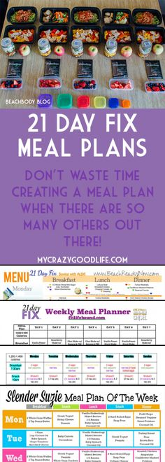 You don't have to spend hours creating a meal plan, here are tons of 21 Day Fix Meal Plans!