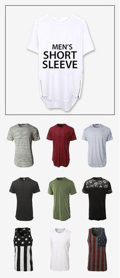 LE3NO Men's Short Sleeve Collection
