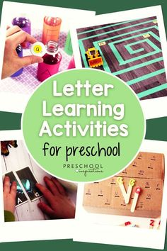 Learning letters is so fun when you use hands-on activities! These letter activities are perfect for toddlers, preschool, and kindergarten at school or at home. Preschool Learning Activities, Alphabet Activities, Hands On Activities, Preschool Alphabet, Abc Games, Learning Letters, Letter Recognition, Phonics, Toddlers