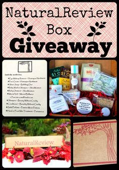 NaturalReview Box Giveaway on Organic Sunshine. Enter to win a box full of Natural, Eco-friendly products for you and your home. Giveaway ends 7/14/14.