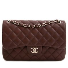 785dda5f6a81 Labellov Chanel Chocolate Brown Classic Jumbo Flap Bag ○ Buy and Sell  Authentic Luxury