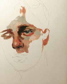 47 Closeup Doodles With Crayon Ideas - Art Painting Inspiration, Art Inspo, Art Sketches, Art Drawings, Arte Sketchbook, Art Graphique, Art Plastique, Pretty Art, Portrait Art