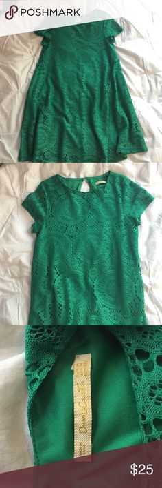 Green lace shift dress Dream Liu collection!! Perfect sun dress for summer. Worn once! Dresses Mini