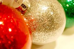 DIY Glitter Ornaments...so incredibly easy and so beautiful! Just 2 steps and no mess!  Glitter is on the inside