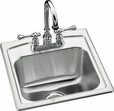 Kohler K-3349-1-NA Single Basin Stainless Steel Bar Sink from the Toccata Series