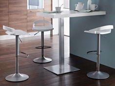 Swivel height-adjustable stool EGO-P-SG by DOMITALIA design Nicola Cacco