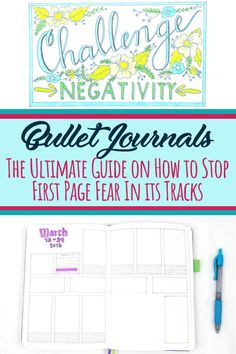 The ultimate guide on how to stop first page fear in its tracks in your bullet journal. Bullet journal ideas and inspiration to help you rock your set up and get started with your bujo. Bullet Journal Contents, Bullet Journal How To Start A, Bullet Journal Junkies, Bullet Journal Spread, Bullet Journal Layout, Bullet Journal Inspiration, Journal Ideas, Bullet Journals, Journal Prompts