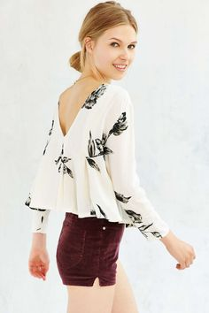Kimchi Blue Canyon Popover Top - Urban Outfitters