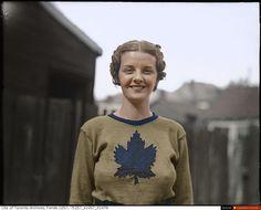 Billie Hallam, Miss Toronto 1937 - Canadian Colour History Of Hockey, Scarborough Ontario, Toronto Ontario Canada, Jokes Pics, William Eggleston, Canada Day, Toronto Maple Leafs, Back In The Day, Historical Photos