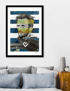 Discover «Van Gogh's Self Portrait and Clint Eastwood», Exclusive Edition Fine Art Print by Luigi Tarini - From $24.9 - Curioos