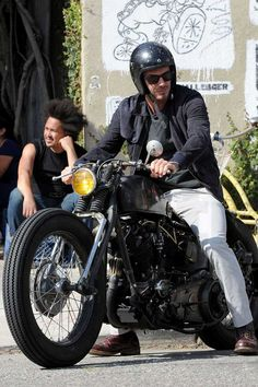 """David's bike is actually named after him and is called The David Beckham's Super Vintage 93"""" Knuckle © Atlantic Images"""